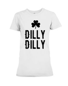 9821c343 Dilly St. Patrick's Day Clover Funny Beer Holiday T-Shirt. Drinking Holiday  T-Shirt. Four Leaf Clover Irish Holiday Short Sleeve Shirt for Adult, Men,  ...
