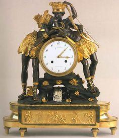 Blackamoor Mantei Clock