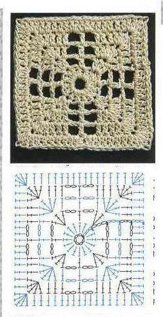 Transcendent Crochet a Solid Granny Square Ideas. Inconceivable Crochet a Solid Granny Square Ideas. Crochet Blocks, Granny Square Crochet Pattern, Crochet Diagram, Crochet Chart, Crochet Squares, Crochet Motif, Granny Squares, Crochet Flower, Crochet Granny