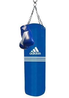 Boxset, »Blue Corner Boxing Kit«, adidas Performance (2tlg.).  Das Boxset von adidas Performance ist perfekt für ambitionierte Box-Sportler. Der Canvas Boxsack aus Kunstleder (PU3G) ist mit Textilien gefüllt und auf Metallteile gescannt, um für maximale Sicherheit zu sorgen. Die PU3G Technologie verleiht dem Kunstleder lederähnliche Attribute wie Biegsamkeit, Temperaturbeständigkeit und Resiste...