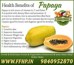 Health Benefits of Papaya!