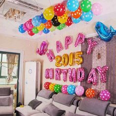 order 5 pc warna mix) Balon Huruf Biru / Pink / pc Balon Angka Silver / Gold / pc Pita Balon / roll Blm ongkir CONTACT US  CHECK OUR BIO & Birthday Party Decorations at Home - Birthday Decoration Ideas ...