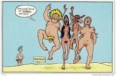 CPM : At hte Nude Beach ( the Faboulous Furry Freak Brothers) by Gilbert Shelton