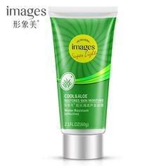 60g Images Aloe Vera Gel Acne Treatment After Sun Repair Moisturizing Face Cream Hyaluronic Acid Whitening Cream Skin Care