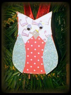 Paper owl Christmas decorations DIY