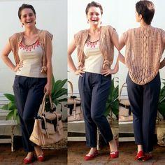 blog v@ LOOKS | por leila diniz: PENDURICALHOS aplicados na blusa parecem colar + C...