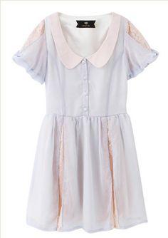 Little Magic Fairy nan 2153- cream colored chiffon dress - Taobao