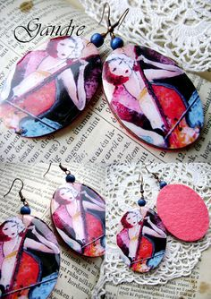 Cello by Gandre Cello, Resin, Coin Purse, Purses, Wallet, Trending Outfits, Unique Jewelry, Handmade Gifts, Earrings