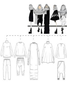 Fashion Sketchbook - fashion illustrations & technical fashion drawings; fashion portfolio // Nicolette Capizzo