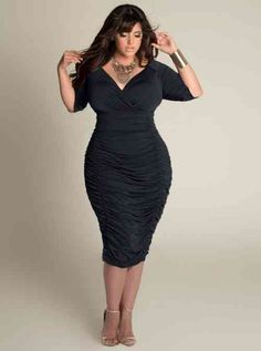 robe noire élégante pour femme ronde Plus