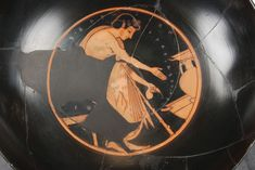 Kylix signed by Phintias as Painter - The inscription ( ΦΙΝ[ΤΙ]ΑΣ ΕΓΡΑΦΣΕΝ ) reveals that this cup was decorated by Phintias, an avant-garde vase painter of the late Archaic Period.