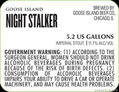 Goose - Island Night Stalker Imperial Stout - 11.7% ABV
