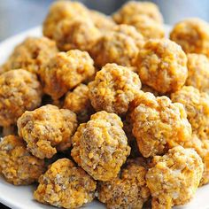 Sausage Balls Recipe Appetizers with all-purpose flour, baking powder, salt, ground cayenne pepper, melted butter, cheese, ground sausage
