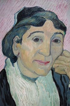 Vincent van Gogh - L'Arlesienne (Madame Ginoux). One of four versions 1890   Museum of Modern Art, Rome While in the asylum at Saint-Rémy, Van Gogh painted another five portraits of Madame Ginoux, based on Gauguin's charcoal drawing of November 1888. Of these, one was intended for Gauguin, one for his brother Theo, one for himself and one for Madame Ginoux. The provenance of the version in the Kröller-Müller Museum is not known in detail, but the painting is known to have been previously…