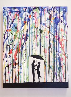 DIY art idea. SO DANG CUTE!! I am totally making this!!