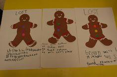 Mrs. Lee's Kindergarten: We Found our Gingerbread Man!
