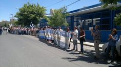 Piedra del Aguila.-: En apoyo a Scioli, kirchneristas realizan un abraz...