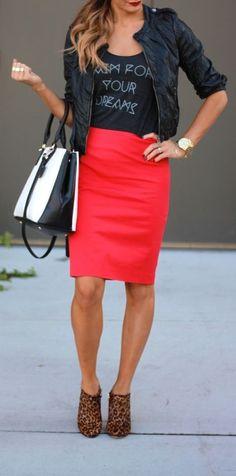 ec90646c25 Red Midi Pencil Skirt I love this pencil skirt list.These list of pencil  skirt