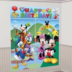 Kids Party Disney Minnie Mickey Mouse Clubhouse Scene Setter Decoration - 679612 in Home, Furniture & DIY, Celebrations & Occasions, Party Supplies   eBay