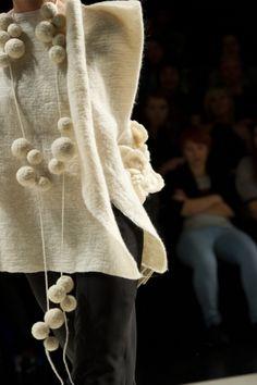 Russian fashion designer Katya Pshechenko at Ukrainian Fashion Week spring-summer 2011. via the designer's site