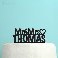 Wedding Cake Topper  Personalized Cake Topper  Mr and by peachwik, $28.00