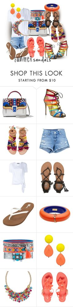 """She Had So Many Summer Shoes, She Didn't Know Which Pair To Choose"" by sharee64 ❤ liked on Polyvore featuring Paula Cademartori, Salvatore Ferragamo, Elina Linardaki, rag & bone/JEAN, Dolce&Gabbana, Billabong, Volcom, Dsquared2, New Look and David Aubrey"