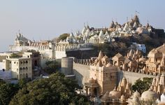 Shatrunjaya Hill, Gujarat, India. These Hindu Temples were fortified to protect the people from Islamic Invaders