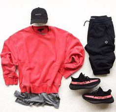 Yeezy Outfit, Adidas Outfit, Outfits Hombre, Tomboy Outfits, Streetwear Mode, Streetwear Fashion, Hype Clothing, Yeezy Fashion, Outfit Grid