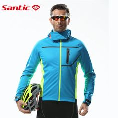 61.47$  Watch now - http://aliixe.worldwells.pw/go.php?t=32604632013 - Santic Thermal Hooded Cycling Jacket Composite Carbon Fiber  Windproof & Waterproof MTB Bike Jersey Sports Windbreaker MC01054 61.47$