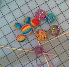 Knitting: Knitted Beads