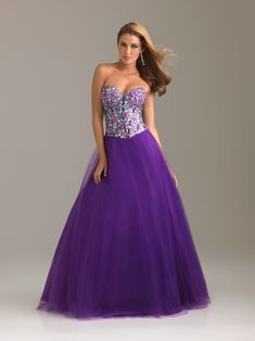 Cheap Purple A-Line Sweetheart and Strapless Bandage Floor Length Graduation Dresses With Jewel online sale,fast shipping