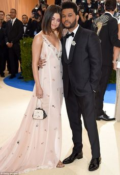 Two cute:The Weeknd went public with his relationship with Selena Gomez in January; seen in May