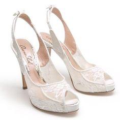 www.arunaseth.com Sherri 120mm Heel in Ivory Chantilly Lace