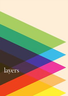 """Colorful visual of layers.  — via Simon Page"" #poster #layers #colorful #triangles"