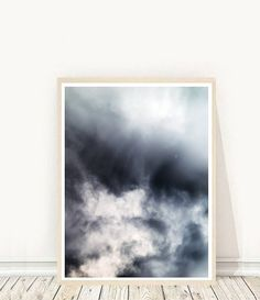 Abstract Photo  Clouds Photo Printable Art by honeytreeprints