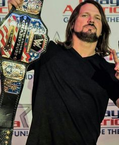 United States Champion A. Aj Styles Wwe, Ring Of Honor, Yesterday And Today, Professional Wrestling, Man Alive, Fashion Pictures, Champs, Boxing, Mma