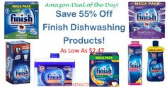 HOT BUY! Save 55% OFF Finish Dishwashing Products! Starting at only $2.54 shipped! Detergent! Boosters! Rinse Aids! Machine Cleaner!  Click the link below to get all of the details ► http://www.thecouponingcouple.com/hot-buy-save-55-off-finish-dishwashing-products-starting-at-2-47/ #Coupons #Couponing #CouponCommunity  Visit us at http://www.thecouponingcouple.com for more great posts!