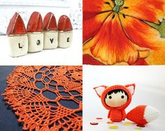 Orange winter for everyone. by Ann Zaborka on Etsy--Pinned with TreasuryPin.com