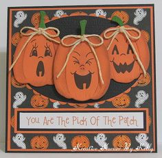 Kreative Korner By Kelly    Cute Halloween card using an oval punch and Peachy Keen Stamps.