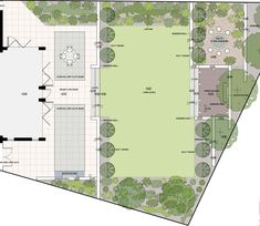 A modern garden layout