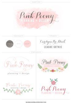 {The Nectar Collective} OCT 22, 2013 – Recent Logo Design // Pink Peony → http://thenectarcollective.com/2013/10/recent-logo-design-pink-peony