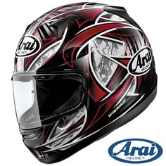 Arai Signet-Q Flash Red Helmet
