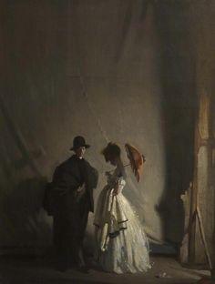 William Orpen - Behind the Scenes (1910)