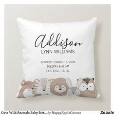Wild Animals List, Cute Wild Animals, Cutest Animals, Funny Animals, Baby Pillows, Throw Pillows, Photo Pillows, Baby Keepsake, Baby List