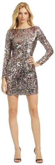 I have never heard of renting a dress, but whomever came up with the idea is a genius!  I would totally rent this for $30.  I wish New Years was closer...  Mark & James by Badgley Mischka Mini Sequin Pixie Dress  #sequins #dress