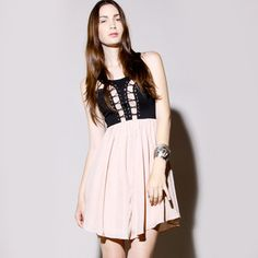 Spare The Drama Dress Black Nude, $135, now featured on Fab.