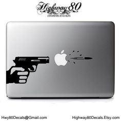 Decal for iPad 1 2 3 4 air mini Sticker Vinyl tablet apple funny man gun shoot