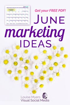 Bright and cheerful June marketing ideas: CLICK to download a FREE content inspiration calendar! Make your small business sales and blog traffic bloom with these fun holidays. | #Bloggers #Holidays #SMM Facebook Marketing Strategy, Instagram Marketing Tips, Marketing Ideas, Social Media Marketing, Business Sales, Business Advice, Business Marketing, Social Media Images, Social Media Tips