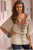 Exotic beaded tunic | Boston Proper