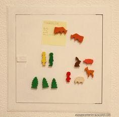 Magnete aus Kinderholzfiguren
